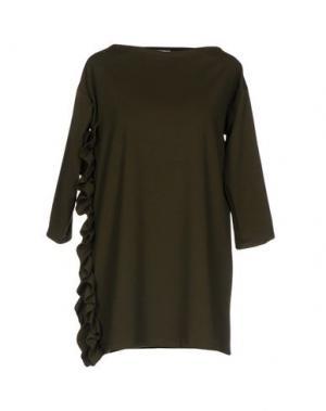 Короткое платье PINK BOW. Цвет: зеленый-милитари