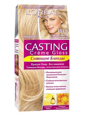 Стойкая краска-уход для волос Casting Creme Gloss без аммиака, оттенок 113, Светло-светло-русый бе L'Oreal Paris. Цвет: бежевый