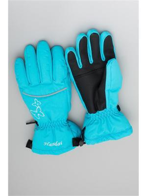 Перчатки OKWAY. Цвет: бирюзовый