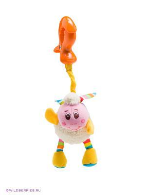 Подвеска-погремушка Овечка Tiny Love. Цвет: белый (осн.), розовый