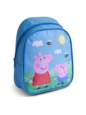Рюкзачок малый Свинка Пеппа Peppa Pig. Цвет: голубой, красный, розовый