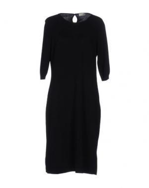 Платье до колена BRUNO MANETTI. Цвет: темно-синий
