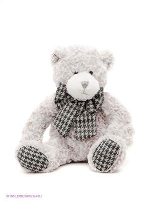 Мягкая игрушка Мишка Бруно MAXITOYS. Цвет: светло-серый