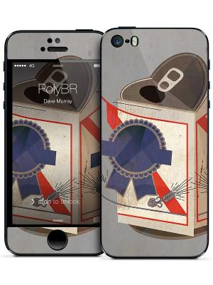 Наклейка для iPhone 5/5S PolyBR - Dave Murray Gelaskins. Цвет: серо-голубой, синий