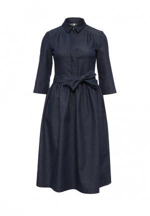 Платье джинсовое Olga Grinyuk. Цвет: синий