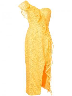 Платье Baha Rebecca Vallance. Цвет: жёлтый и оранжевый