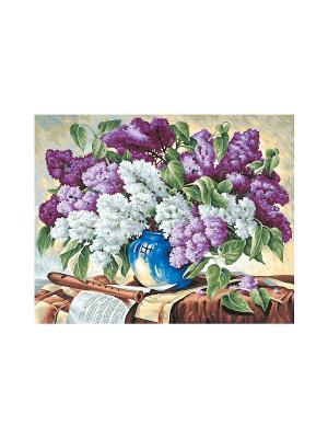 40х50 см,  Сирень в вазе, 6/6 Schipper. Цвет: фиолетовый, белый