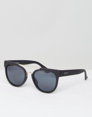 Quay Eyewear Круглые солнцезащитные очки с двойной переносицей Australia. Цвет: черный