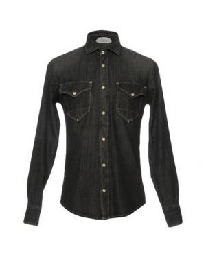 Джинсовая рубашка CYCLE. Цвет: стальной серый