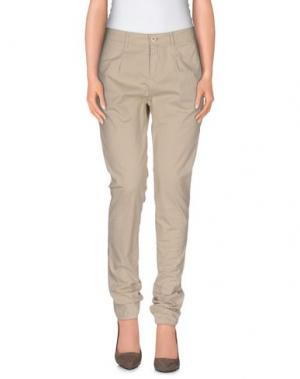 Повседневные брюки OSSO GOCCIA. Цвет: бежевый