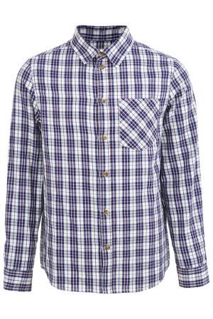 Рубашка Button Blue. Цвет: синий, белый, красный