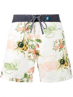 Пляжные шорты Burgh Riz Boardshorts. Цвет: телесный