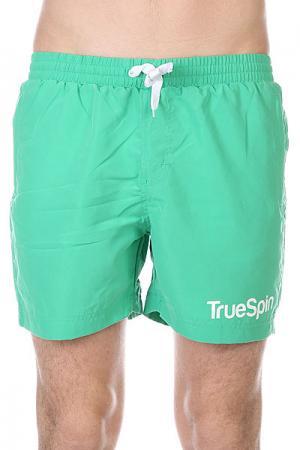 Шорты пляжные  Swimming Shorts Splash One Green TrueSpin. Цвет: зеленый