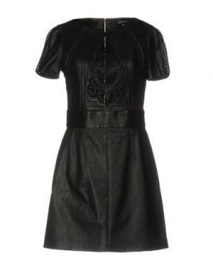 Короткое платье JITROIS. Цвет: черный