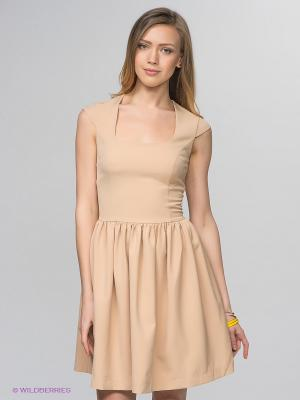 Платье Camelot. Цвет: светло-бежевый