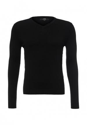 Пуловер oodji. Цвет: черный