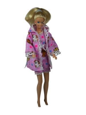 Одежда для сна куклы 29 см: халат, кофточка и шортики Модница.. Цвет: розовый