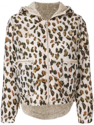 Куртка с леопардовым принтом Bellerose. Цвет: телесный