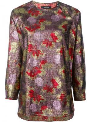 Топ с длинными рукавами люрексом Isabel Marant. Цвет: розовый и фиолетовый