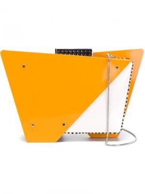 Клатчи Tonya Hawkes. Цвет: жёлтый и оранжевый
