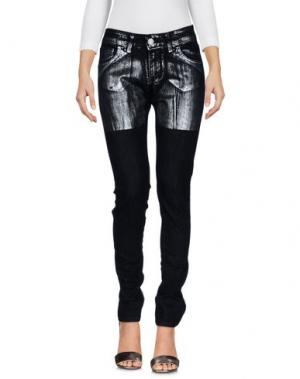 Джинсовые брюки BOUTIQUE de la FEMME. Цвет: черный