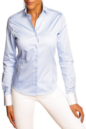 Блуза GAZOIL. Цвет: синий