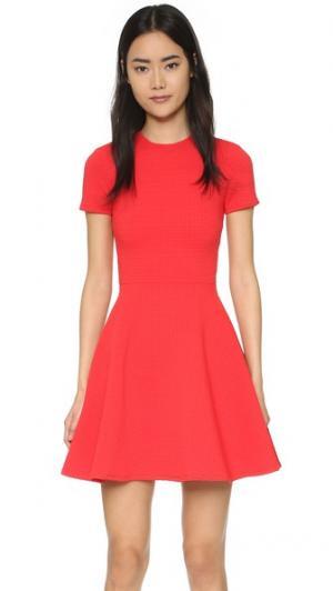 Текстурированное платье Clos Opening Ceremony. Цвет: вишнево-красный