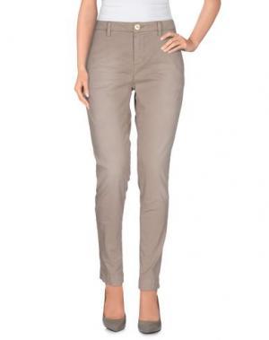 Повседневные брюки AGLINI. Цвет: голубиный серый