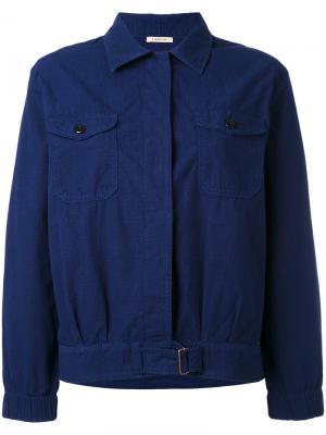 Куртка на пуговицах Bellerose. Цвет: синий