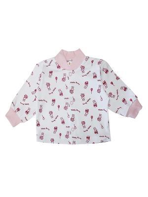 Кофточка КОТМАРКОТ. Цвет: розовый, белый