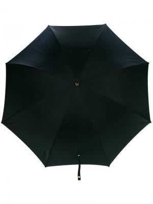 Зонт с черепом на рукоятке Alexander McQueen. Цвет: чёрный
