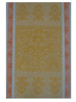 Полотенце Петушок Белорусский Лен. Цвет: желтый, оранжевый