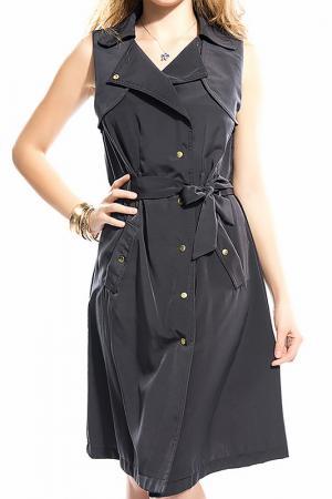 Платье BSL FASHION. Цвет: серый