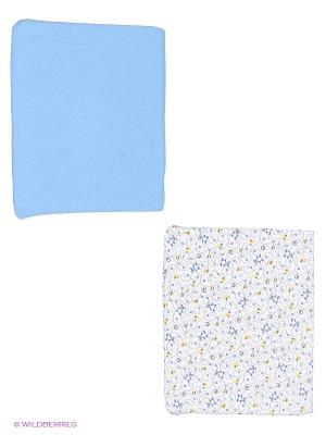 Простынь на резинке 2шт. дет. LI-LY PTR-60/2-5. Цвет: синий, белый