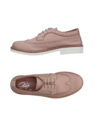 Обувь на шнурках GIACKO. Цвет: телесный