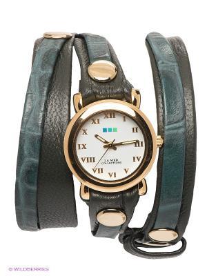 Часы La Mer Collections. Цвет: золотистый, антрацитовый, темно-зеленый
