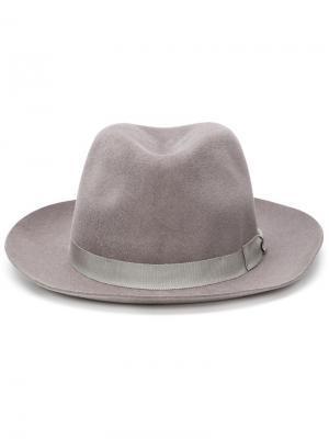 Маленькая фетровая шляпа Larose Paris. Цвет: серый