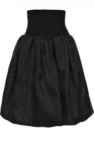 Юбка-миди с широким эластичным поясом Oscar de la Renta. Цвет: черный