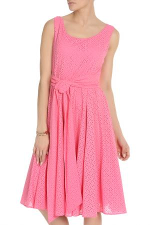 Свободное платье на поясе NATALIA PICARIELLO. Цвет: розовый
