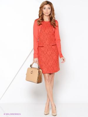 Платье КАЛIНКА. Цвет: оранжевый