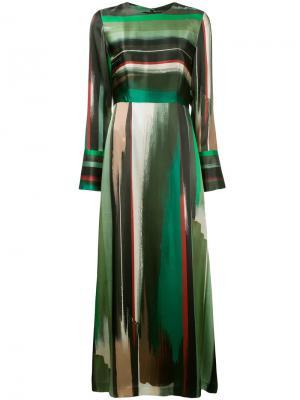 Платье с абстрактным рисунком Goen.J. Цвет: многоцветный