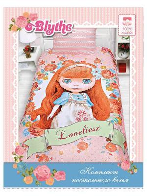 Комплект постельного белья Littlest Pet Shop. Цвет: розовый, оранжевый