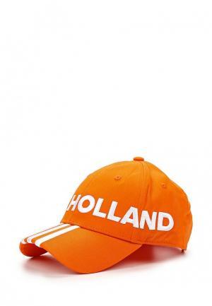 Бейсболка adidas Performance. Цвет: оранжевый