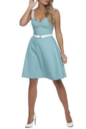 Платье Gloss. Цвет: салатовый, молочный