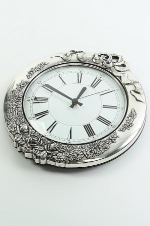 Настенные часы Stilars. Цвет: серебряный