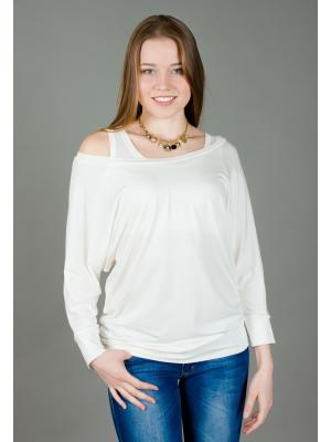 Блуза Летучая мышь Ням-Ням. Цвет: молочный