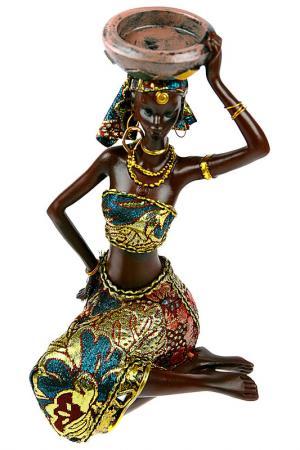 Статуэтка Африканка Русские подарки. Цвет: темно-коричневый, синий