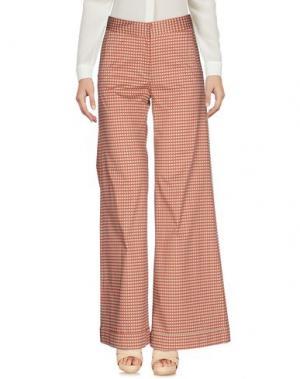 Повседневные брюки SIYU. Цвет: красный