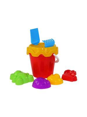 Набор детский для игры с песком Зоопарк №1 Альтернатива. Цвет: голубой, фиолетовый, красный, желтый, салатовый