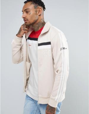 Adidas Originals Бежевая спортивная куртка 83-C BK7523. Цвет: бежевый